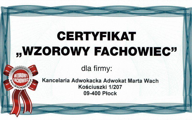 Wzorowy Fachowiec - Adwokat Płock